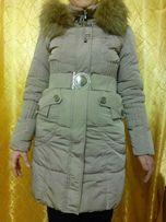 Зимняя женская курточка пальто пуховик