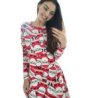 sukienka w mikołaje mikołajka na mikołajki choinkę boże narodzenie
