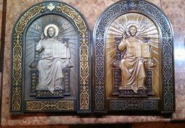 Спас на престолі 500х350мм, Дерев'яна ікона, Спас на престоле
