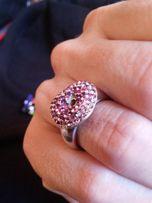 Серебряное кольцо со сваровски.