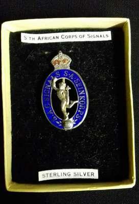 South Africa Corps of Signals Silver Badge