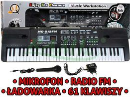 ORGANY KEYBOARD 61 klawiszy RADIO, mikrofon