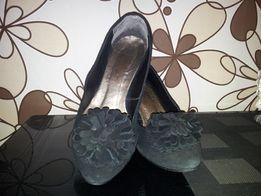 Туфли черные (замша, размер 40)