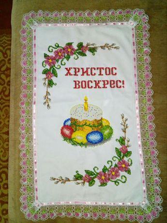 Великодній рушник вишитий чеським бісером Дубно - изображение 2