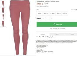 Лосины женские Adidas размер 14 для бега фитнеса тайтсы легинсы