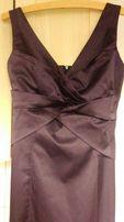 Śliwkowa sukienka + bolerko rozmiar 38 na wesele /sylwestra/studniówkę