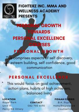 Peraonal Growth and Personal Excellence course
