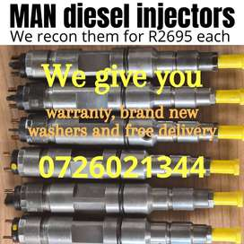 MAN truck diesel injectors - recondition services