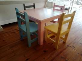 Beautiful Table and Benches