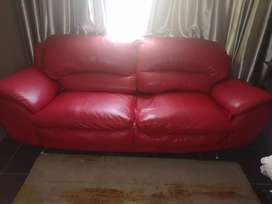 Half leather couches