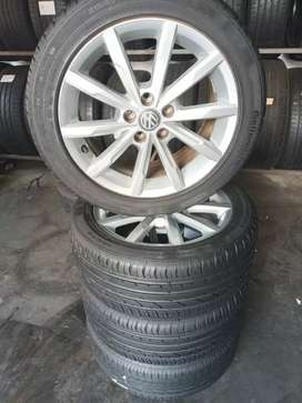 A clean set of 16inches polo tsi rims and tyres for sale