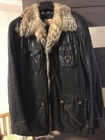 Мужская куртка с мехом (зима, кожа)