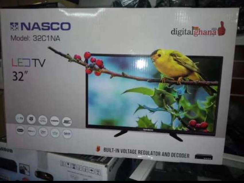 "NASCO 32"" HD DIGITAL & SATELLITE LED TV 0"