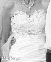prześliczna ekskluzywna suknia ślubna = SWAROVSKI = jak nowa =