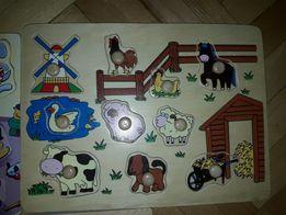 Продам головоломки и вкладыши для малыша или малышки