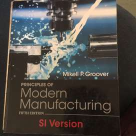 Principles of modern manufacturing fifth edition Mikell P. Groove R500