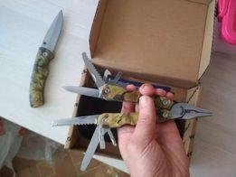 Nóż + Multinarzędzie multitool cross quad bushcraft