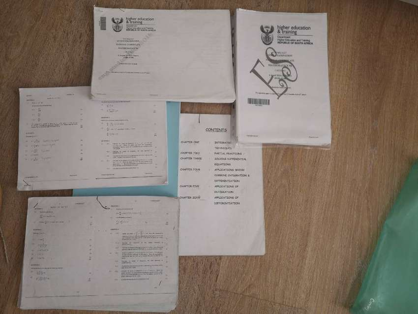 Maths N6 Textbook, Study guide and papers with memos for sale 0