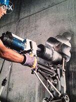 Демонтаж алмазное сверление стен и отверстий вы-резка в бетоне проемов