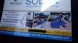 We supply solar products and installation