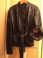 Шикарная кожаная куртка р. С-М Viaveneto