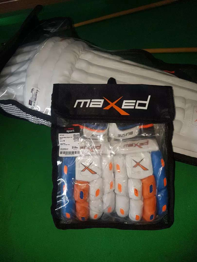 Cricket pads and gloves