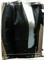 Женская кожаная куртка, пиджак с подстежкой размер XL