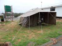 Image of venter bush baby trailer, with tent