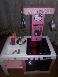 Детская кухня Smoby Hello Kitty+Набор посудки