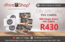500 PVC Cards on Special - Only R430