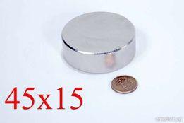 Неодимовый магнит 45Х15 N42 (50кг.) ПОЛЬША 100%, ПОДБОР, ВСЕ РАЗМЕРЫ!