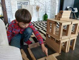 Конструктор из дуба, большие кубики подарок для детей - джанга, дженга