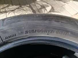 2 x Used Bridgestone tyres for sale