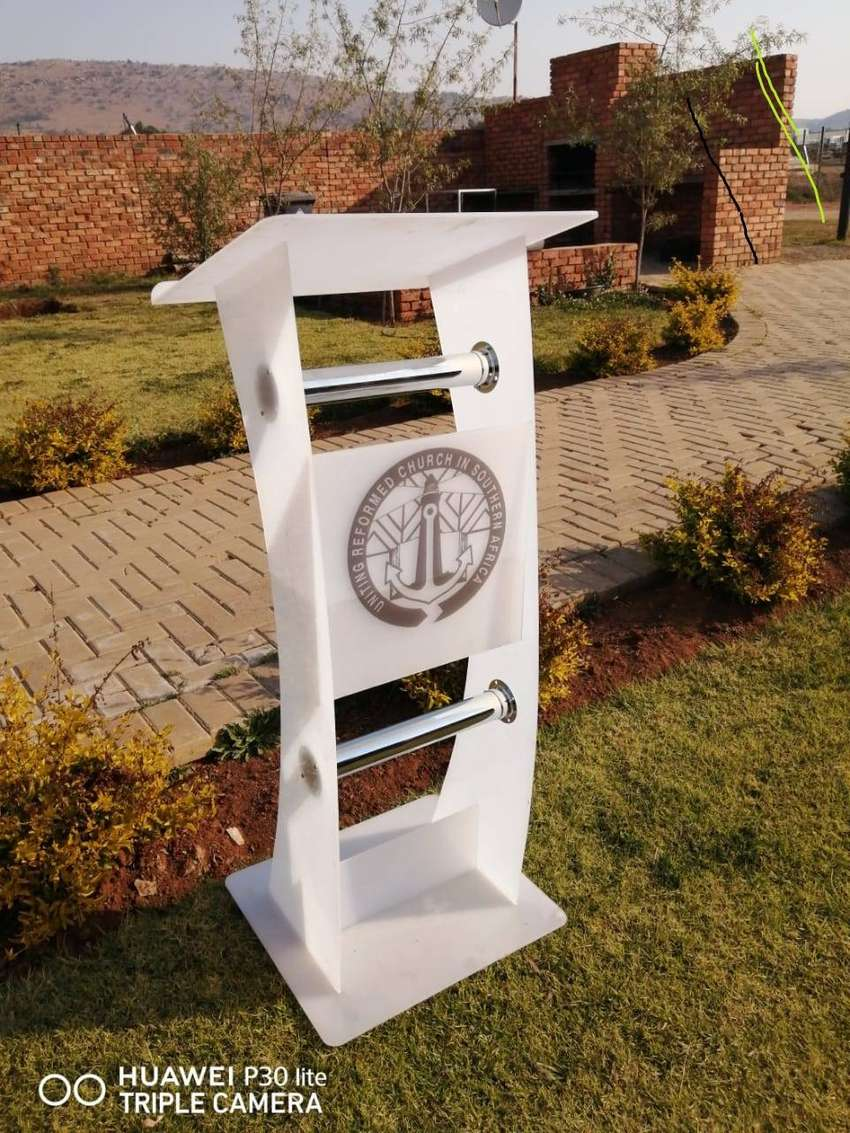 Pure White Slender Pulpits. Good Price