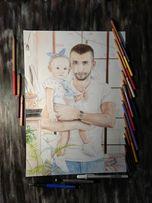 Рисунок + портрет