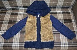 Куртка Glo-Story ( Венгрия) с вязаным капюшоном. 4-5 лет. 104-110 см.