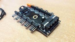 Переходник управляемый MOLEX/SATA на 10 кулеров 4 pin hub кулер fan