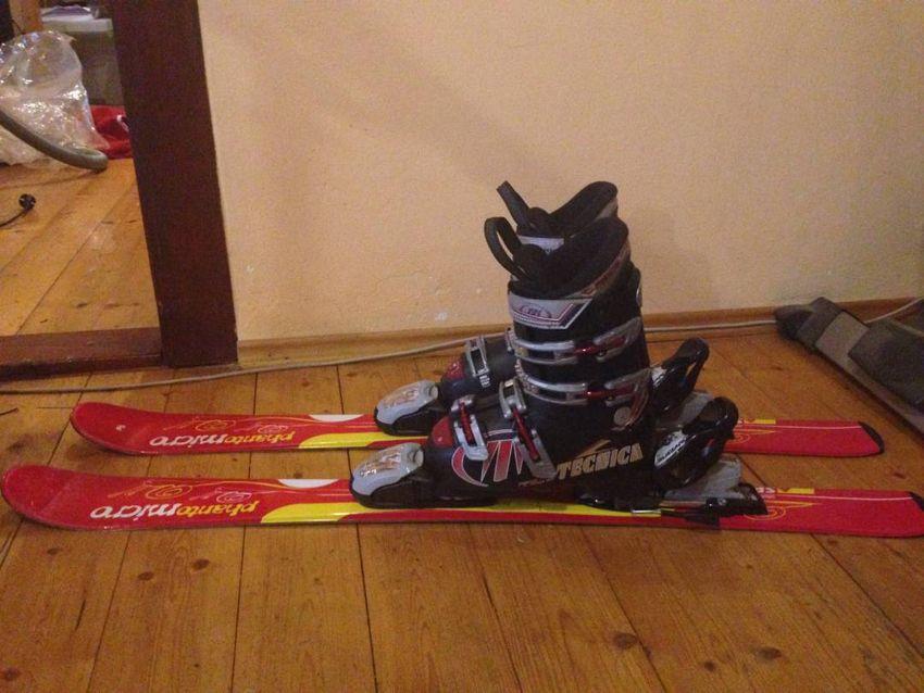 Dětské lyže s lyžáky 0