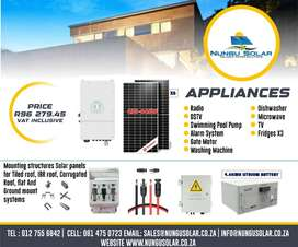 5.5KVA HYBRID SOLAR SYSTEM WITH 4.8KWH LITHIUM BATTERY
