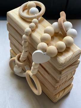 Wooden beads teething  toy
