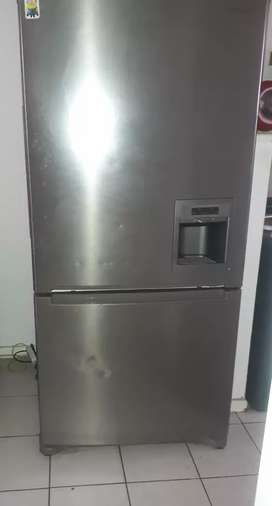 samsung metalic silver 2 door fridge