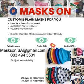 Cloth Masks for your Company or School