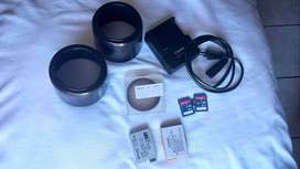 550D canon camera and 2 lenses
