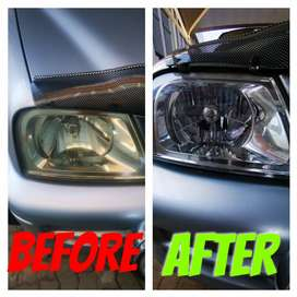HEADLIGHTS RESTORATION , i do call outs as well