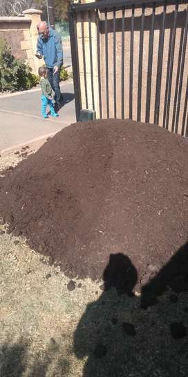 Compost mixed up with top soil