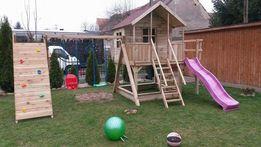 Drewniany plac zabaw Julia z piaskownica