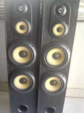 2 Sony Speakers with covers
