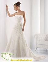 Suknia ślubna Lisa Ferrera Colet r.38 + koronkowe bolerko