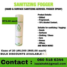 Sanitizing Foggers 500ml - BUNDLE DEALS AVAILABLE