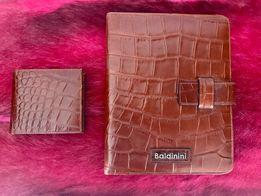 BALDININI - skórzany komplet, etui na ipada + portfel